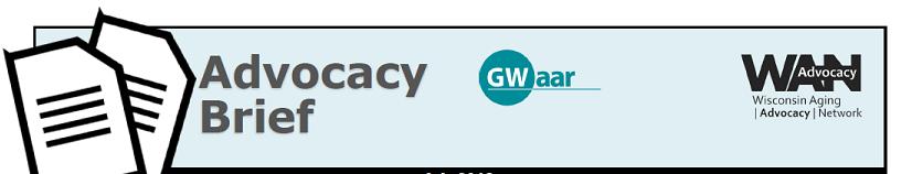 GWaar,wisconsin aging network,wisconsin advocacy network, advocacy brief